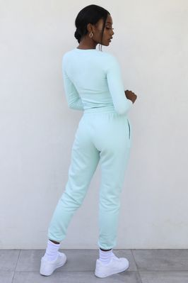 On The Run Petite Classic Joggers in Mint - Image 3 of 3