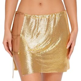 (gold) Chainmail skirt - front