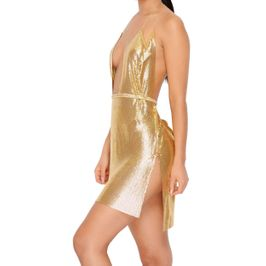(gold) Chainmail Dress - side