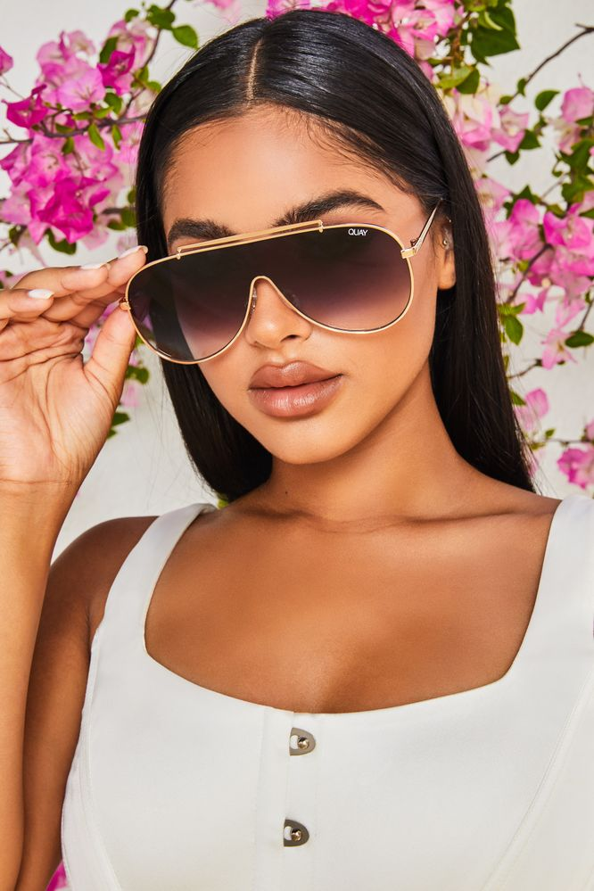 El Dinero Quay Australia Sunglasses in Gold