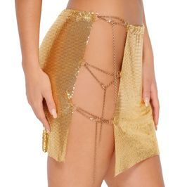 (gold) Chainmail skirt - side