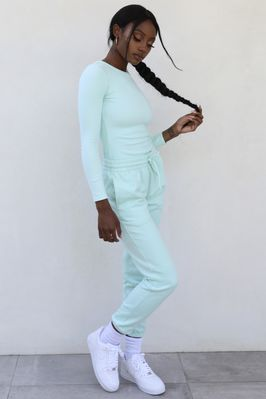 On The Run Petite Classic Joggers in Mint - Image 2 of 3