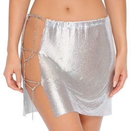 (silver) chainmail skirt - front