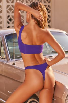 Rays For Days One Shoulder Bikini Top in Purple - Image 3 of 9