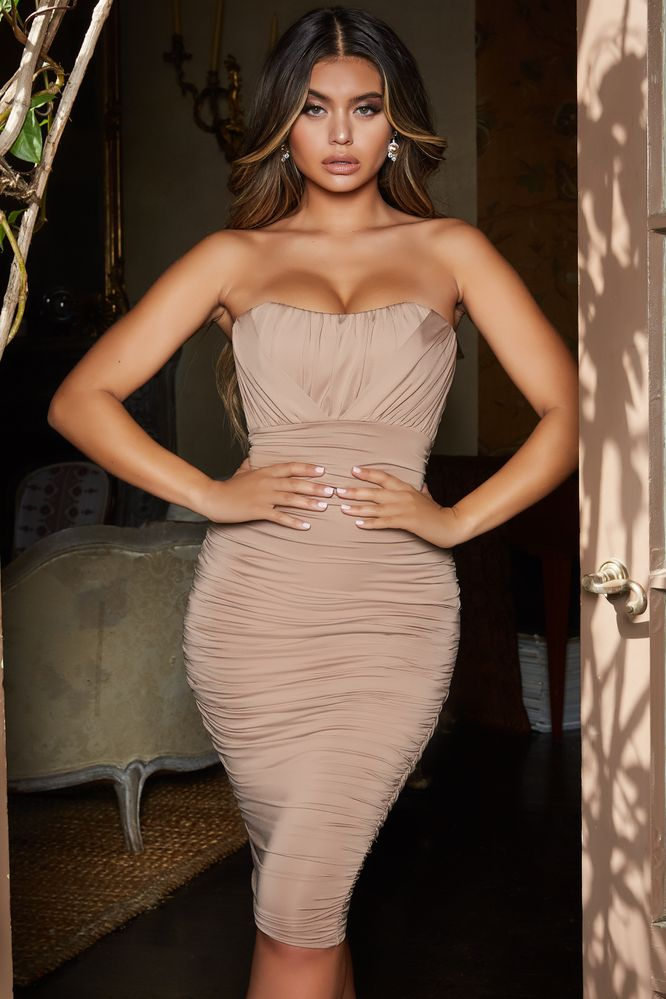 283c5618872 Touch of Love. Bustier Bodycon Midi Dress ...