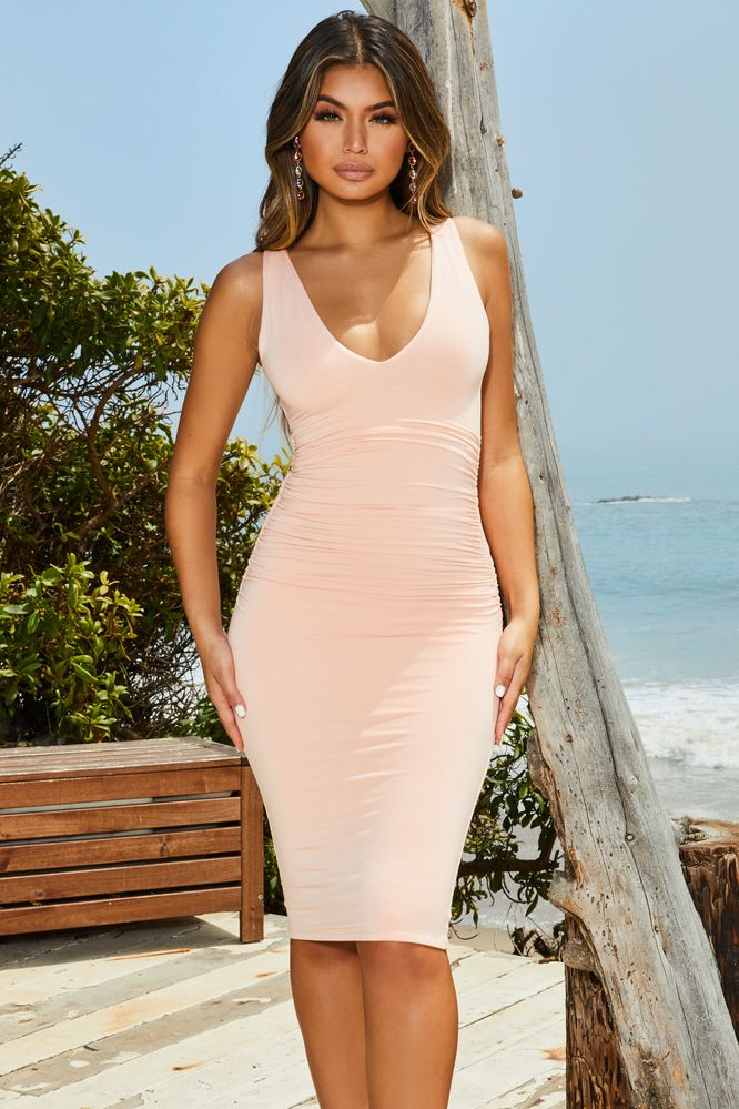 Clothes midi bodycon in dress white lowdown the plunge oyster discount hairstyles