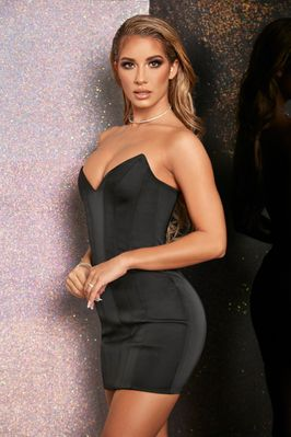 one night only satin bustier mini dress  oh polly
