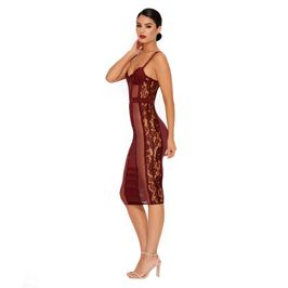 (wine) Mesh back dress - side