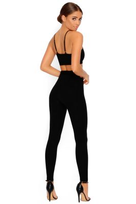 Cut Outta Here Cut Out Leggings in Black - Image 3 of 3