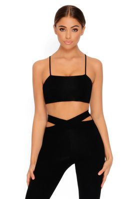 Cut Outta Here Cut Out Leggings in Black - Image 2 of 3