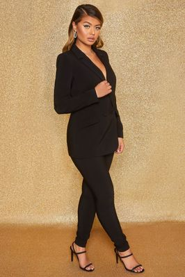 Business As Usual High Waisted Tailored Trousers in Black - Image 2 of 9