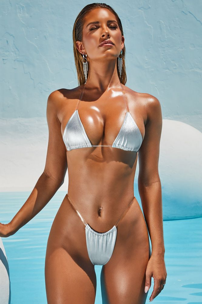 bec8f1432b0 Midnight Skinny Dipping. Metallic Micro Bikini Top ...
